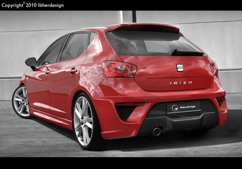 fotografia de seat ibiza 6j 2009 corvo tuning online. Black Bedroom Furniture Sets. Home Design Ideas