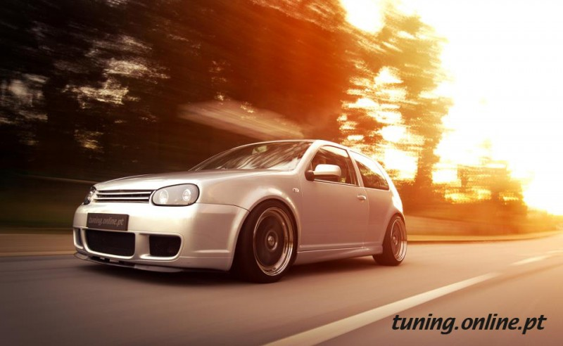 vw golf rolling shot