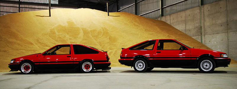 AE86 stock vs lowered