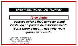Manifestação a favor do Tuning
