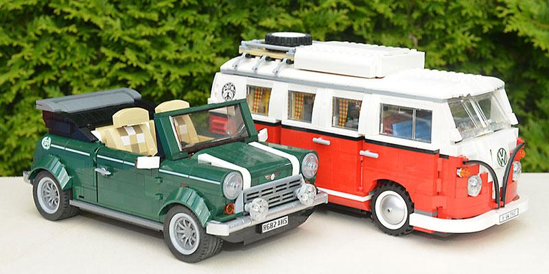 vw camper mini cooper lego